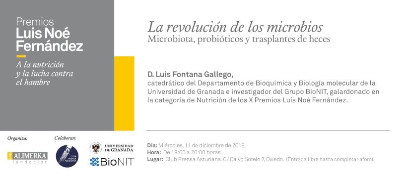 Invitación charla divulgativa La Nueva España